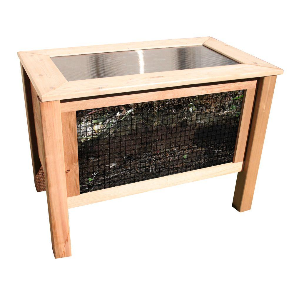 24 in. x 45 in. x 32 in. Solar Assist Composter
