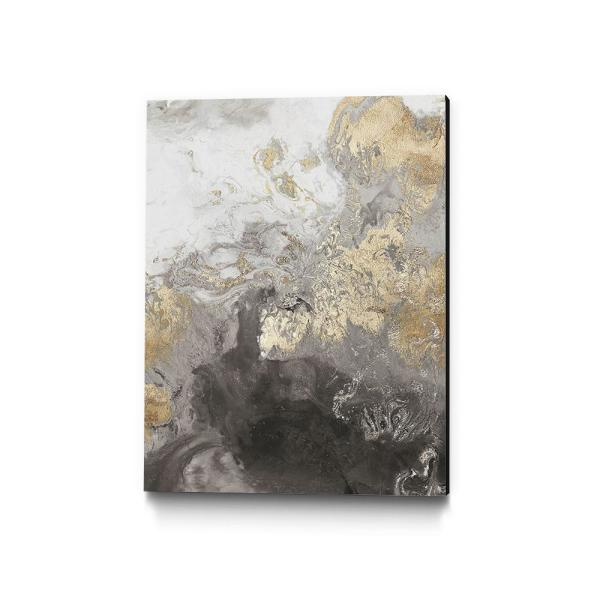 30 in. x 40 in. ''Ocean Splash II Grey Version'' by PI Studio Wall Art
