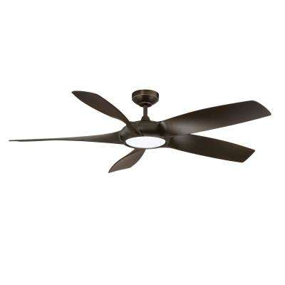 Blade Runner 54 in. LED Architectural Bronze Ceiling Fan with DC Motor