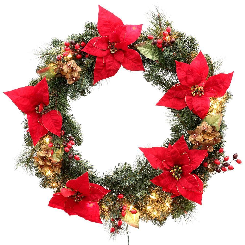 Martha Stewart Living 32 In. Winterberry Artificial Wreath