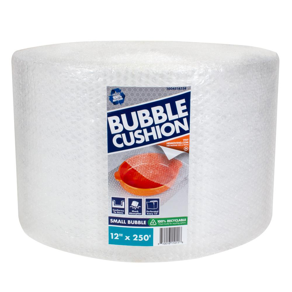Pratt Retail Specialties 3/16 in. x 12 in. x 250 ft. Clear Perforated Bubble Cushion Wrap