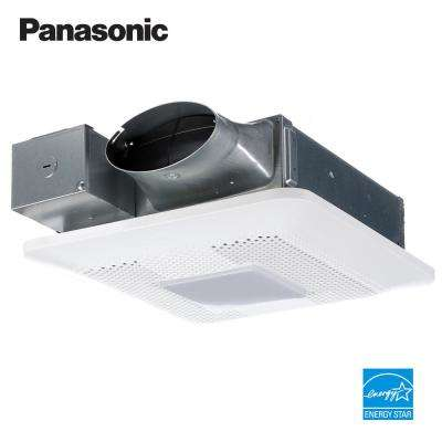 WhisperThin Pick-A-Flow 80 or 100 CFM Exhaust Fan w/LED Light, Low Profile,  Ceiling or Wall and 4 in  Oval Duct Adapter