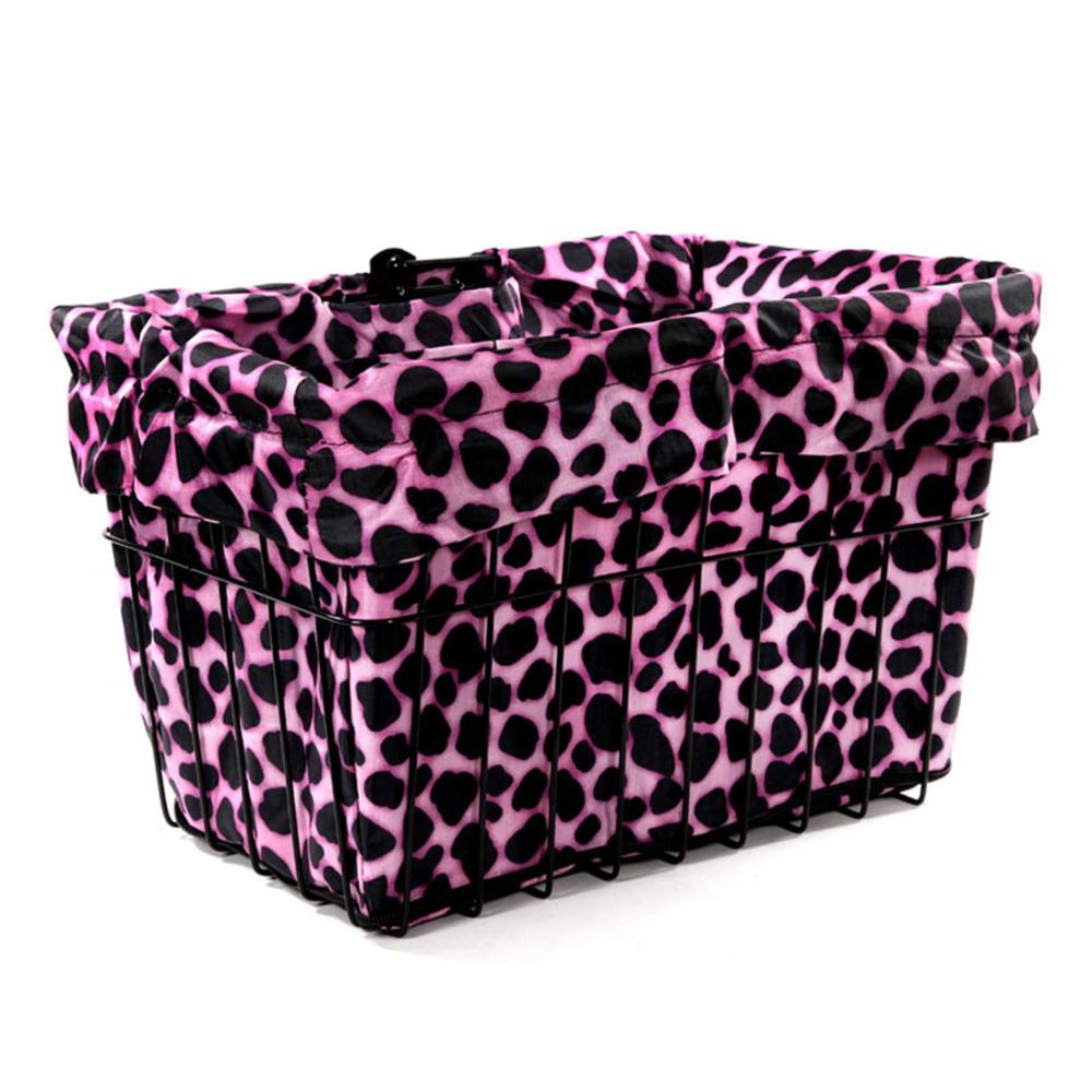 Pink Dalmatian Bicycle Basket Liner