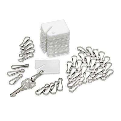 White Plastic Key Tags (100-Pack)