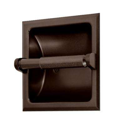 Recessed Toilet Paper Holder in Bronze