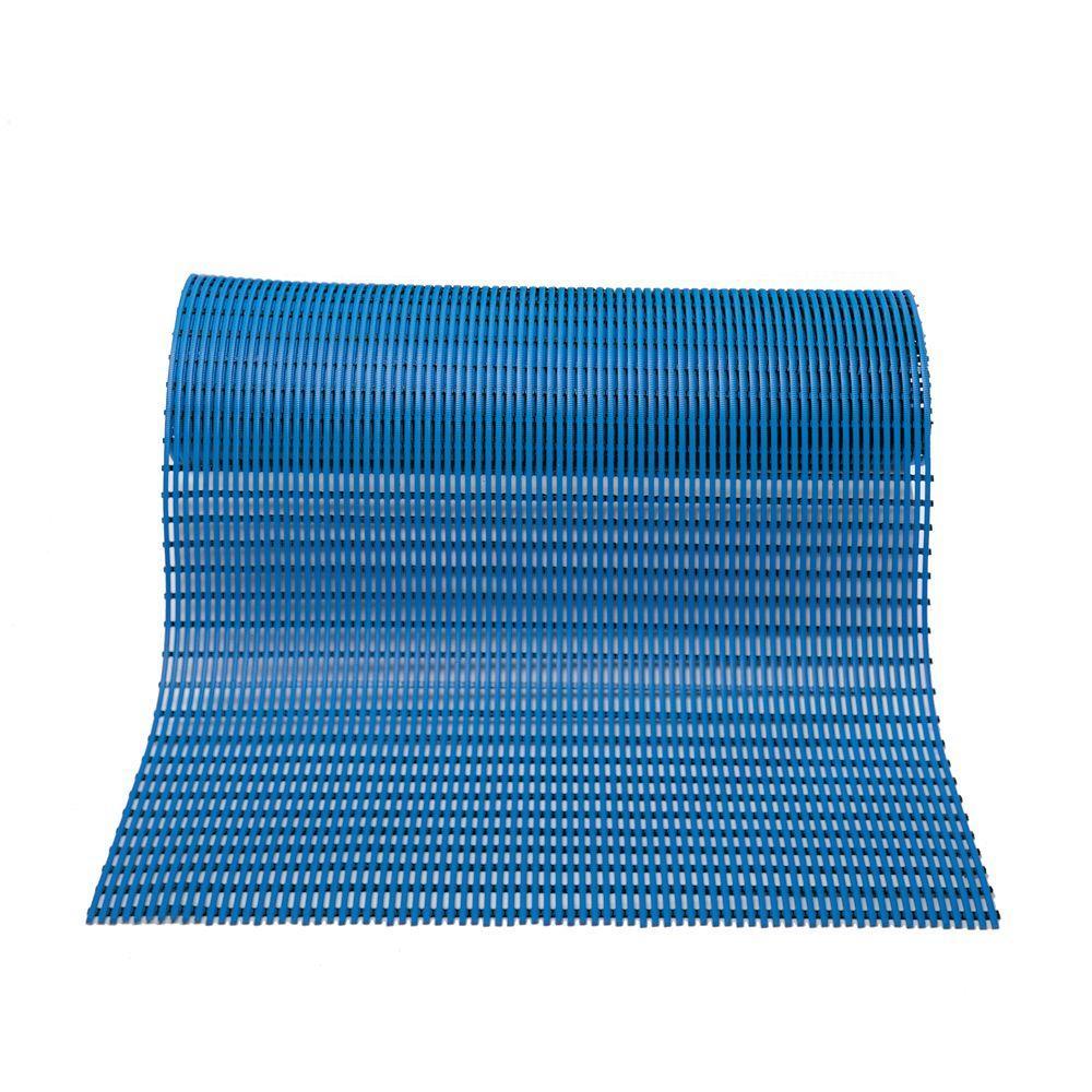 Barepath Light Blue 2 ft.x 30 ft.PVC Safety and Comfort Rug