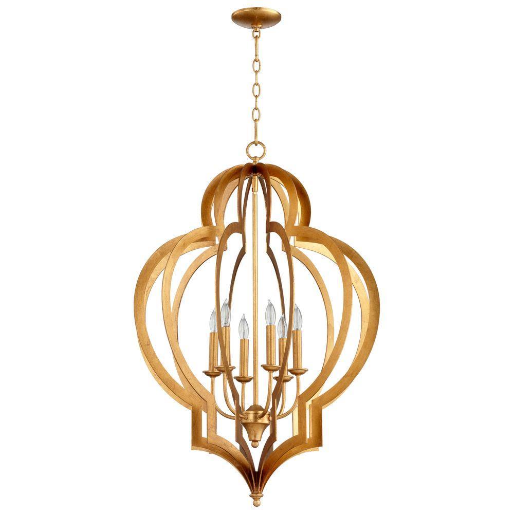 Filament Design Prospect 6-Light Gold Leaf Chandelier