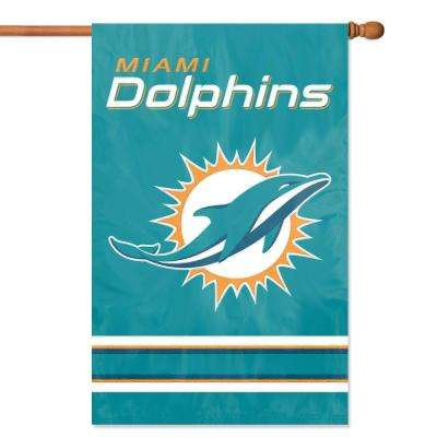 Miami Dolphins Applique Banner Flag