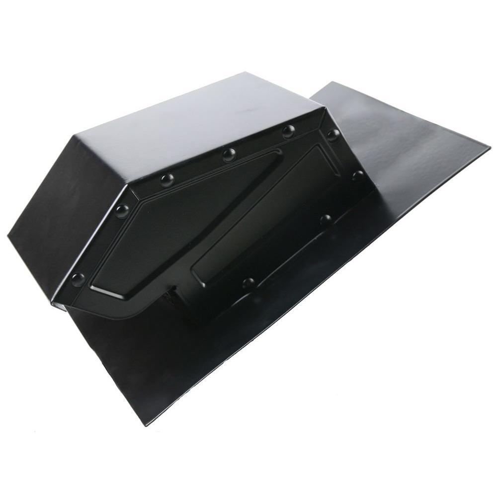 Cool Attic 4 in. Galvanized Steel Static Roof Vent in Black