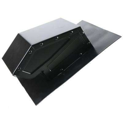 4 in. Galvanized Steel Static Roof Vent in Black