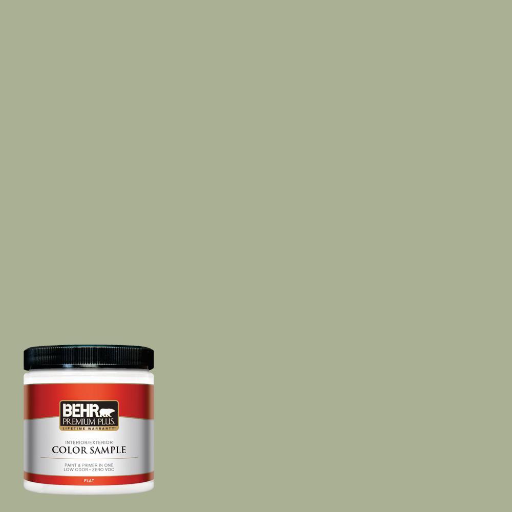 8 oz. #PPU10-06 Spring Walk Flat Interior/Exterior Paint Sample