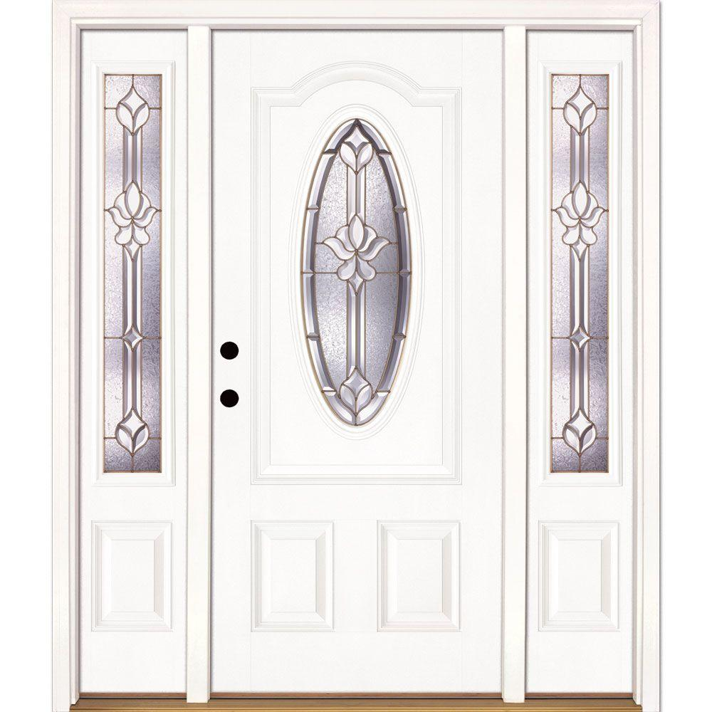 River doors feather river doors 63 5 in x in for White front door with glass