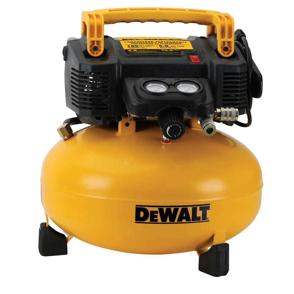 DEWALT 6 Gal. 165 PSI Electric Pancake Air Compressor