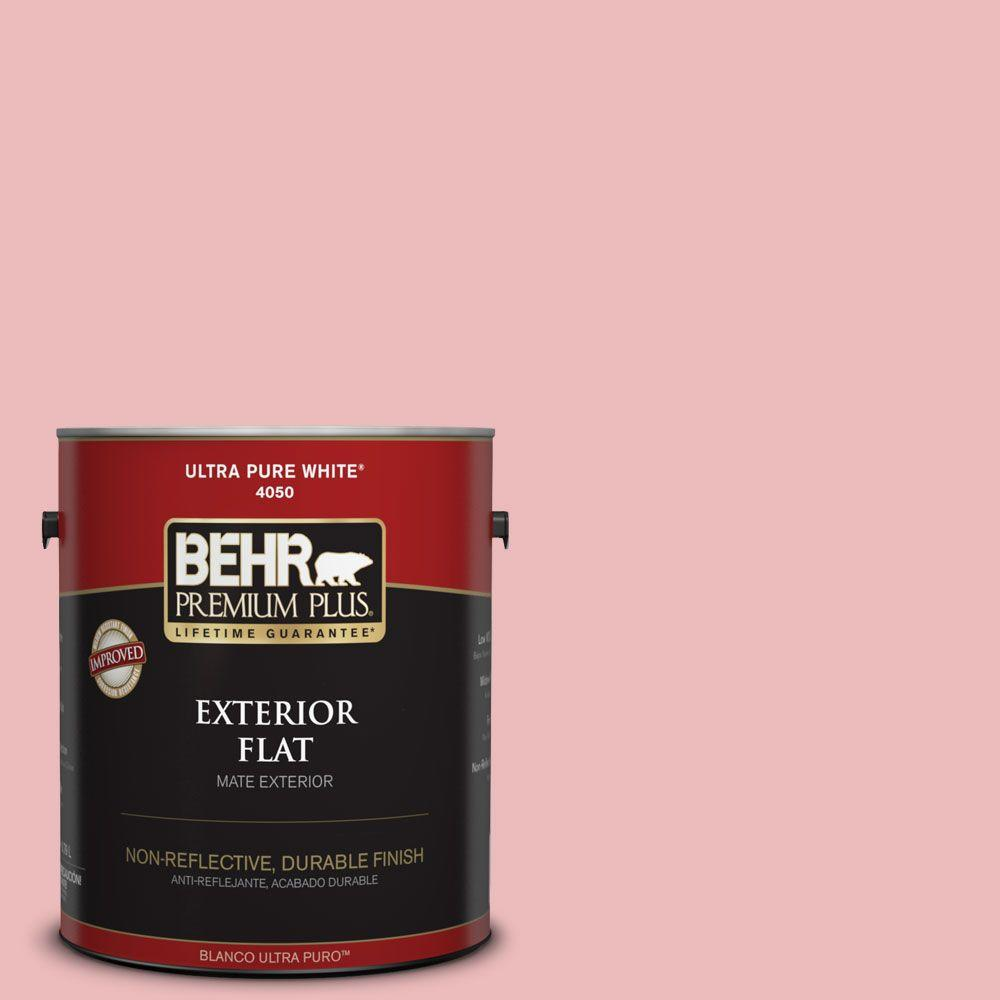 BEHR Premium Plus 1-gal. #150C-3 Arizona Sunrise Flat Exterior Paint