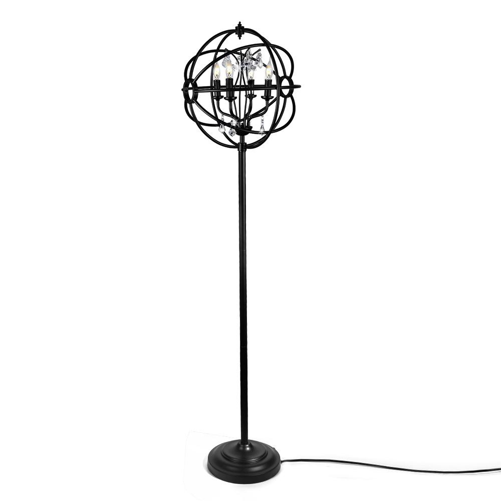 LNC 61 in. Black Indoor Floor Lamps with Sphere Shade