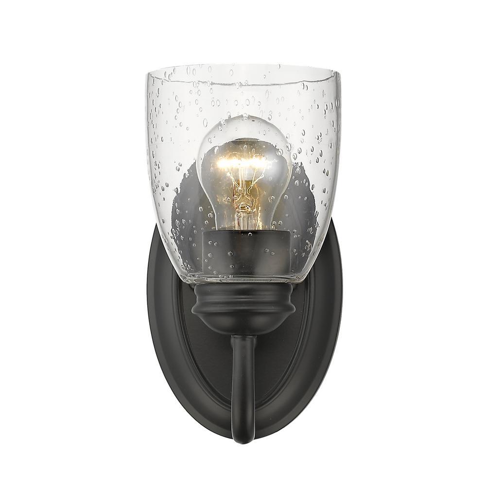 Parrish 1-Light Black Bath Light