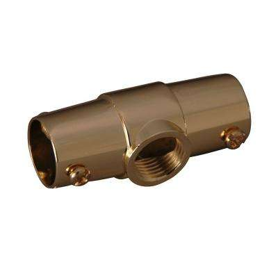 1 in. Brass Ceiling Tee for 4150 Shower Rod in Polished Brass