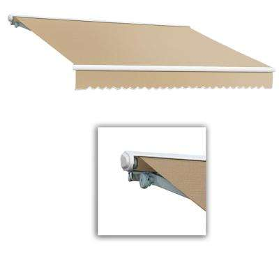 24 ft. Galveston Semi-Cassette Right Motor with Remote Retractable Awning (120 in. Projection) Linen