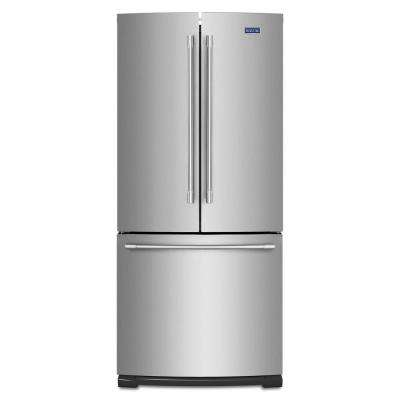 30 in. W 20 cu. ft. French Door Refrigerator in Fingerprint Resistant Stainless Steel