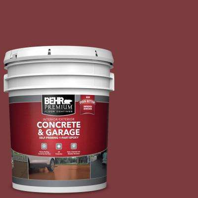5 gal. #PFC-02 Brick Red 1-Part Epoxy Satin Interior/Exterior Concrete and Garage Floor Paint
