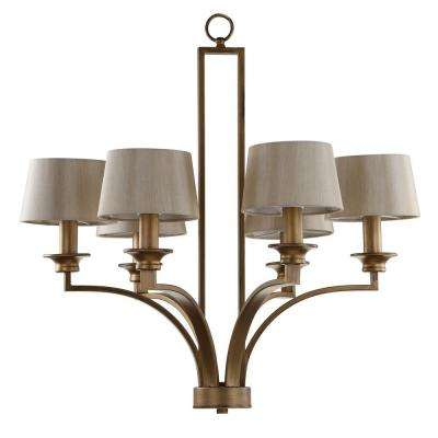 Mindy Craftsman 6-Light Antique Gold Pendant/Chandelier