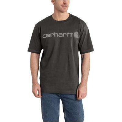 Men's Large Peat Cotton/Graphic Signature Logo Short Sleeve MW Jersey T-Shirt