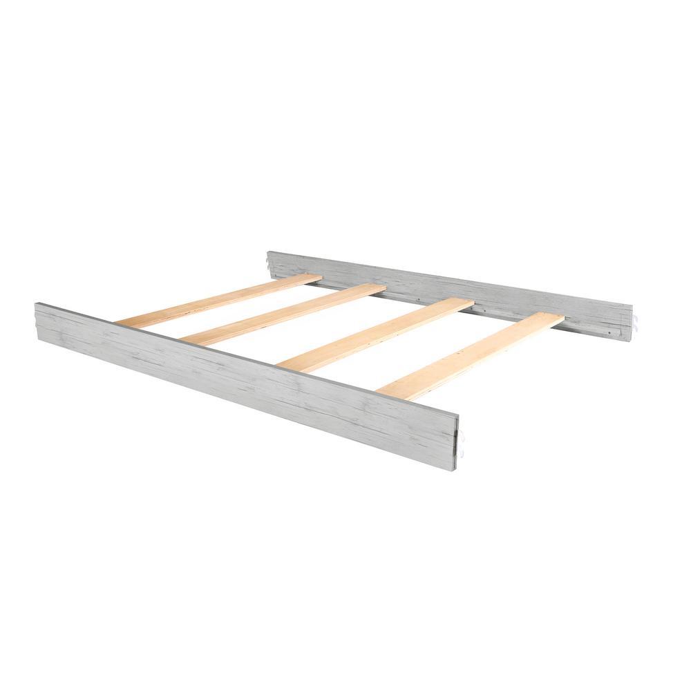 Evolur Antique Grey Mist Wooden Full Size Bed Rail 1 Pack
