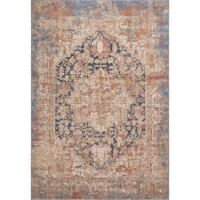 Manor Blue Jerome 8 ft. x 10 ft. Distressed Area Rug