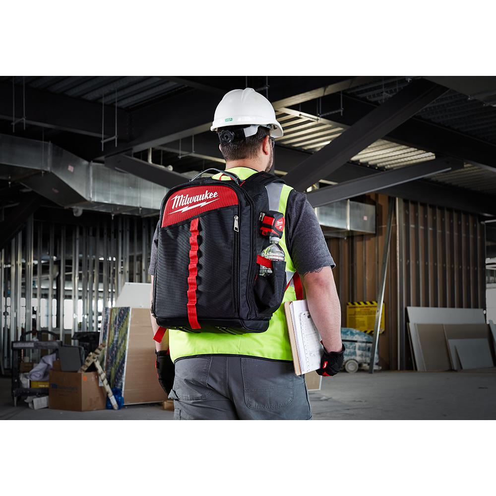 Milwaukee Heavy Duty Jobsite Backpack Tool Grip Holder Bag Load Bearing Harness
