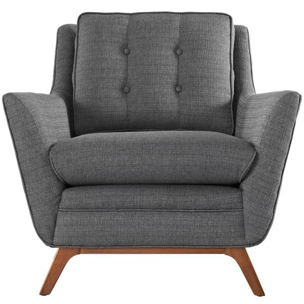 Beguile Gray Upholstered Fabric Armchair