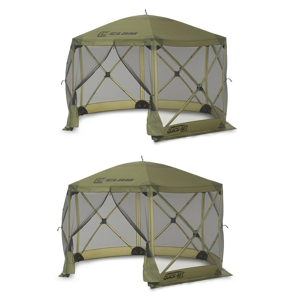 Clam Quick Set Escape Portable Camping Outdoor Gazebo Canopy Shelter (2-Pack) was $473.0 now $301.0 (36.0% off)