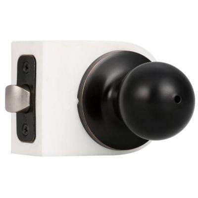 Premiere Essentials Oil-Rubbed Bronze Privacy Bed/Bath Hudson Door Knob