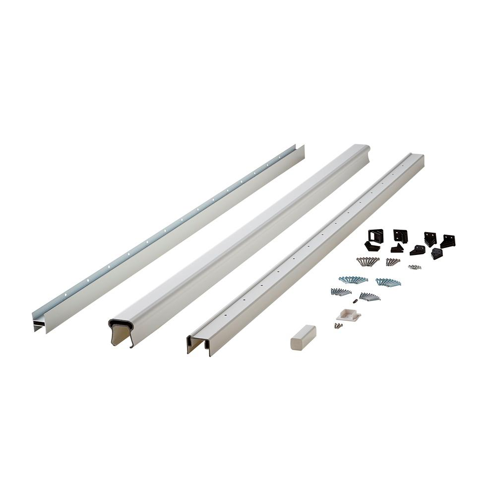 Symmetry 6 ft. Tranquil White Capped Composite Line/Stair Rail Kit