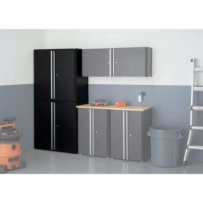 37.4 in. H x 36 in. W x 19 in. D Steel Garage Modular Cabinet in Black