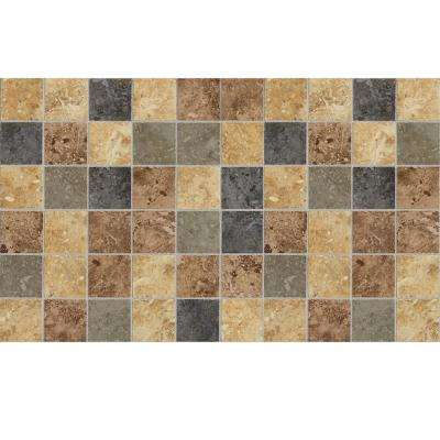 Heathland Sunset 12 in. x 24 in. x 8 mm Glazed Ceramic Mosaic Floor and Wall Tile (2 sq. ft. / piece)