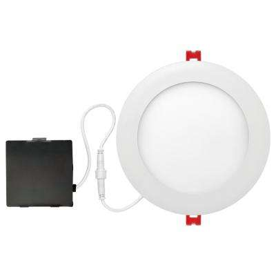 Designer Ultra Slim 6 in. White Integrated LED Recessed Kit