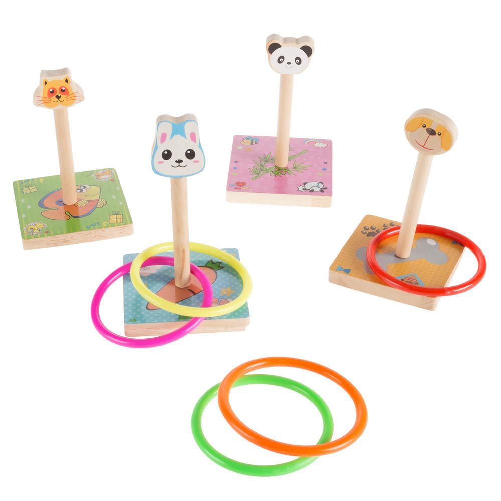 Zoo Animal Ring Toss Game Set