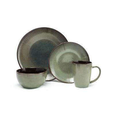 16 Piece Green Navona Dinnerware Set