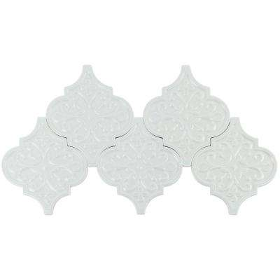 Vintage Florid Lantern Light Blue 6-1/4 in. x 7-1/4 in. x 10 mm Ceramic Wall Mosaic Tile (30 pieces 4.8 sq. ft. / Box)