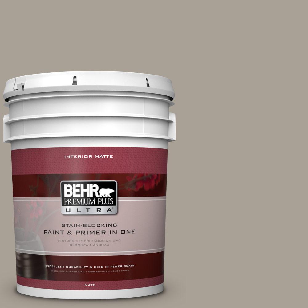 BEHR Premium Plus Ultra 5 gal. #ECC-18-1 Quail Ridge Flat/Matte Interior Paint