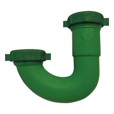 1-1/2 in. x 1-1/2 in. Rubber Squeeze Clean J-Bend with 1/4 Reduction Washer