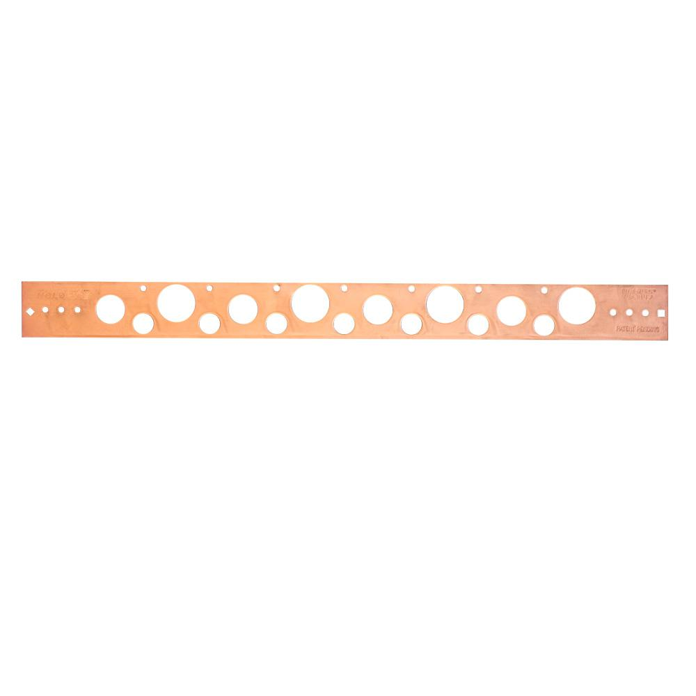 20 in. Flat, Copper-Bonded Bracket Positions 1/2 in., 3/4 in. or