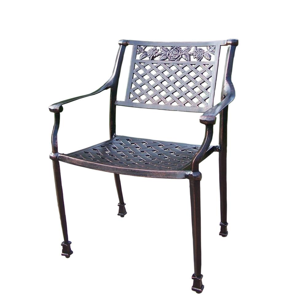 Rose Aluminum Stackable Outdoor Dining Chair