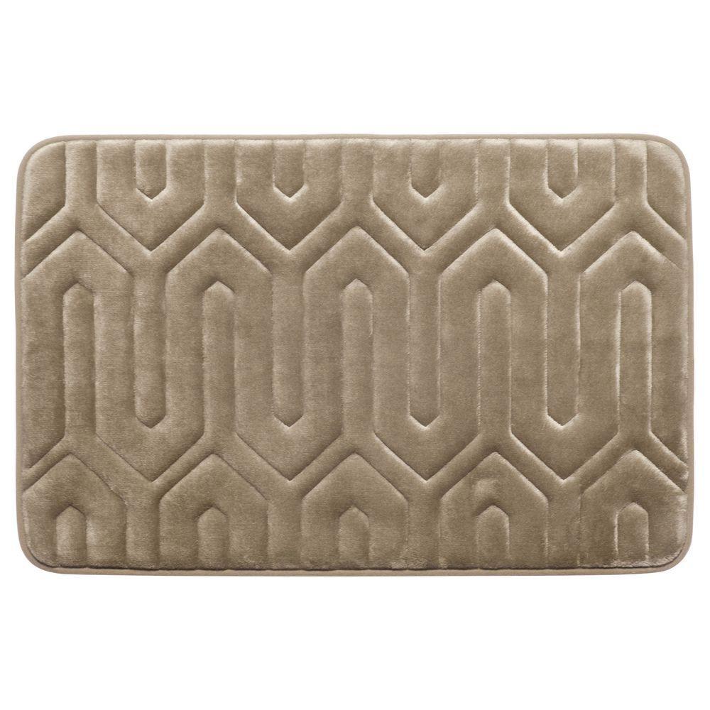 Thea Linen 20 in. x 32 in. Memory Foam Bath Mat