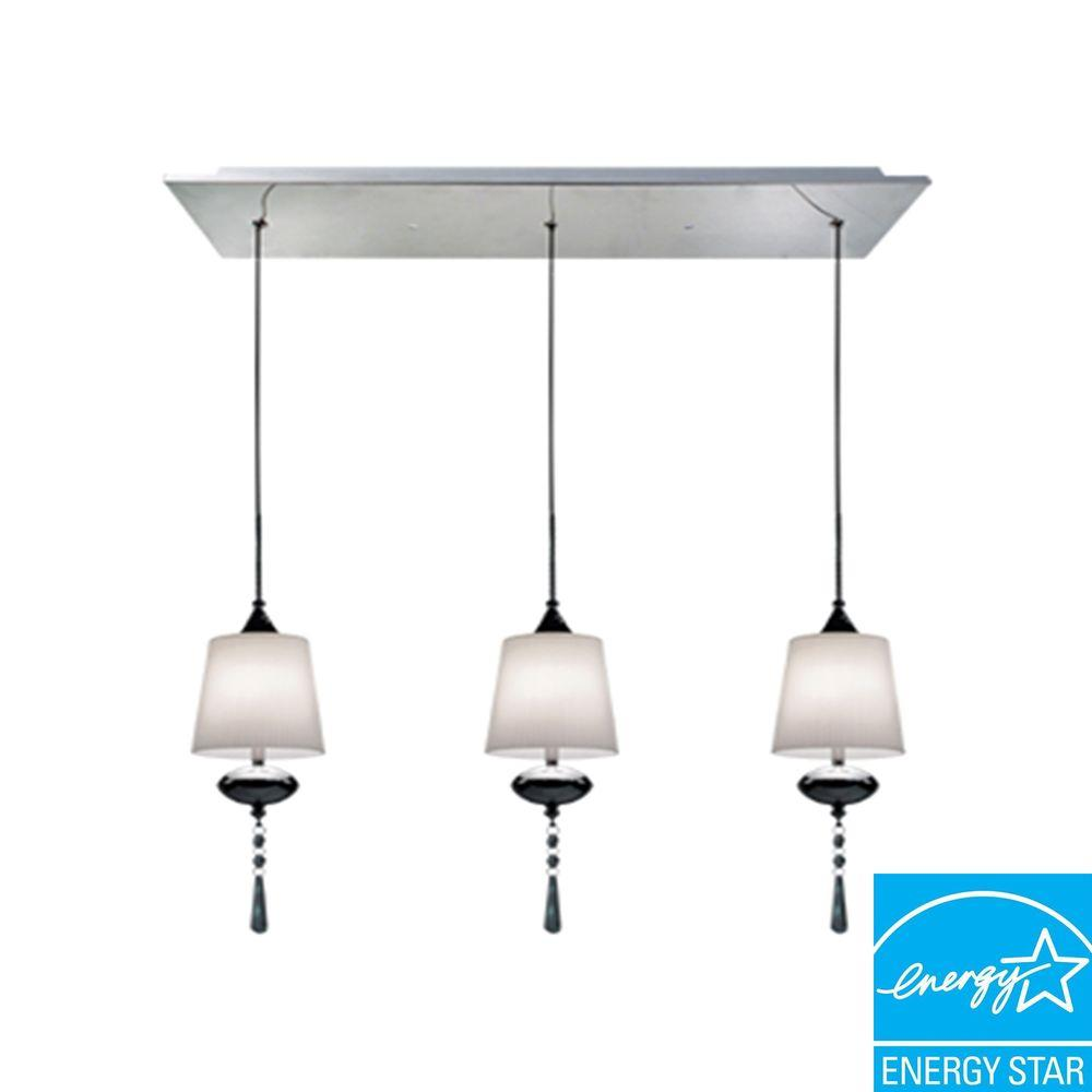 BAZZ Versa Collection 3-Light Chrome Hanging Pendant