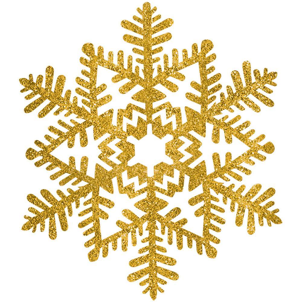 Snowflakes elegant. Amscan in gold glitter