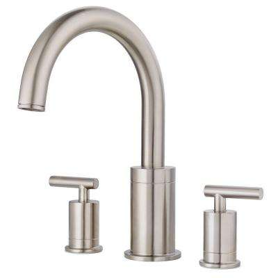 Contempra 2-Handle High-Arc Deck Mount Roman Tub Faucet Trim Kit in Brushed Nickel (Valve Not Included)