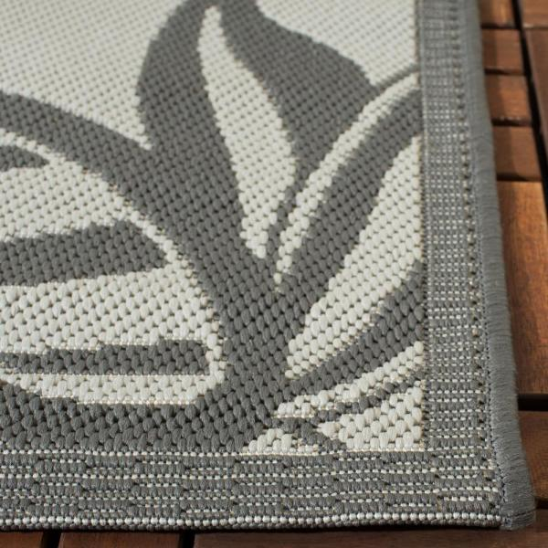 Safavieh Courtyard Light Gray Anthracite 5 Ft X 8 Ft Indoor Outdoor Area Rug Cy6109 78 5 The Home Depot