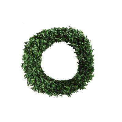 Round 21.50 in. Boxwood Wreath
