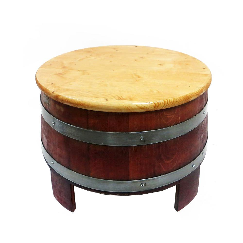 Wine Barrel Coffee Table.Mgp 24 In W X 17 In H Lacquer Reclaimed Wine Barrel Coffee Table